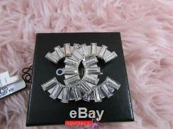 2006 06A CHANEL A32192 Large CC Crystal Brooch Pin