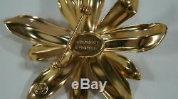2006 Chanel Sublimage Limited Edition Gold Flower Brooch VIP Gift