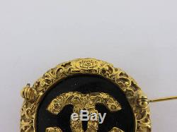 Auth Chanel 93a Gold CC Logos Brooch 2 Sets Ey839