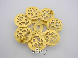 Auth Chanel 95a Vintage Goldtone CC Brooch