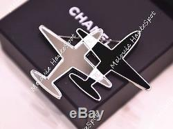Auth Chanel Limited Edition 2016 Airlines Air Plane Large Round Pin Brooch Bnib