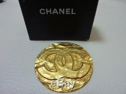 AUTH CHANEL Large COCO Standard 1.9 Pin brooch