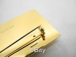 AUTH CHANEL Vintage Gold-Tone Pin Brooch Corsage