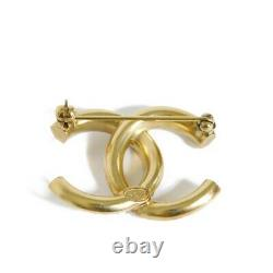 AUTHENTIC CHANEL Brooch Brooch Bicolor Clear Gold Clear Silver 11P COCO Ma