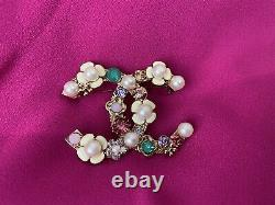 AUTHENTIC CHANEL COCO Brooch MADE IN FRANCE not In Box