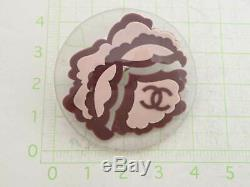 Auth CHANEL CC Logo Pin Brooch Clear/Purple/Pink Resin/Metal e42223