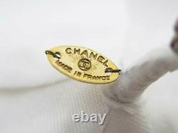 Auth CHANEL Camellia Flower Motif Corsage Brooch Off White Textile e49013a