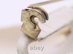 Auth CHANEL Camellia Flower Pin Brooch Off White Cotton Canvas e47062a