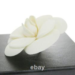 Auth CHANEL Camellia Pin Brooch Corsage Canvas White France Accessories 01MH440