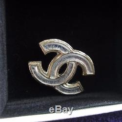 Auth. Nib Chanel Brooch Pin Sold Out Silver And Gold CC Logo Stunning