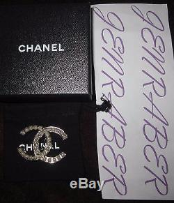 Auth. Nwot Chanel Beautiful Silver And Pearl Brooch Pin