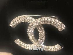 Auth Preowned Chanel Silver Tone Brooch Pin