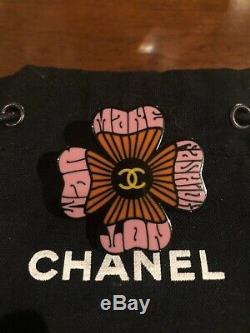 Authentic CHANEL 15S CC Logo Resin Multicolor Flower Pin Brooch