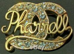 Authentic CHANEL Brooch Pin With Rinestone Accents