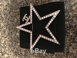 Authentic CHANEL CC Space Star Brooch Iridescent XL Pin