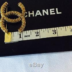 Authentic CHANEL Gold Tone Pin Brooch