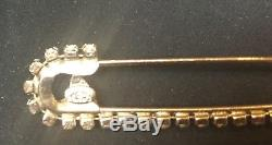 Authentic CHANEL SilverTone Pin Brooch with Rhinestones & CC Charm
