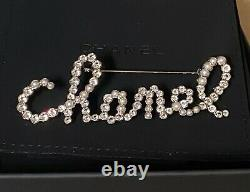 Authentic CHANEL Swirling Gold Crystal Pearl Brooch Pin