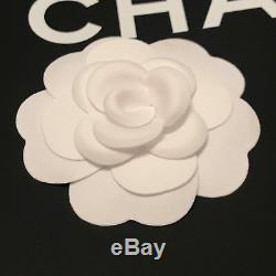 Authentic CHANEL White Suede Touch Fabric Camellia Flower to Making Brooch /Pin