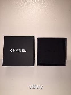 Authentic Chanel CC Logo Gold Crystal Brooch Pin Rope Twist Design