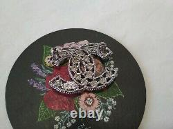 Authentic Chanel Classic CC Logo Pin Brooch