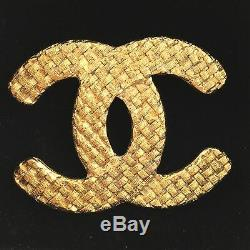 Authentic Chanel Decacoco Gold Brooch 2