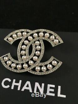 Authentic Chanel Silver Brooch