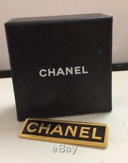 Authentic Chanel Vintage Staff Uniform Brooch Pin Rare Very Hard To Find