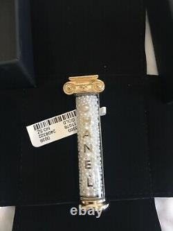 Authentic NWT Chanel Ancient Greek Column Pillar Brooch Pin With Pearls And Gold