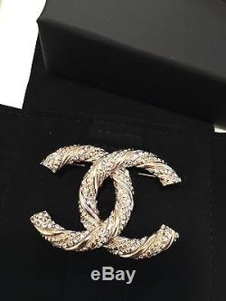 Authentic New Chanel Brooch Gold Swarovski SOLD OUT