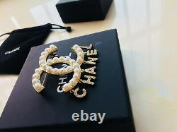 Authentic Rare Chanel Pearl And Crystal Brooch