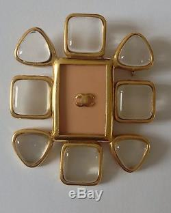 Beautiful Vintage Chanel Lucite Pink Brooch
