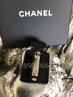 CHANEL 17A Perfume Bottle Brooch Black Gold Glitter Pearl 17A Coco Suite NEW NWT