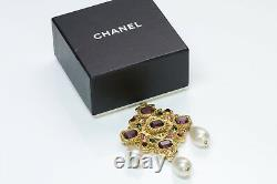 CHANEL 1970s Byzantine Style Pearl Pin Brooch