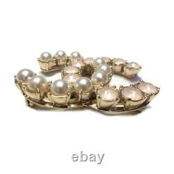 CHANEL Brooch 17B broche pin Plating artificial pearl Gold Used