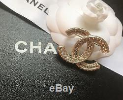 CHANEL Brooch Pin With Crystals. Full set. NWT