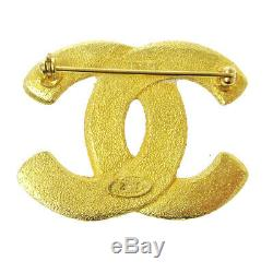 CHANEL CC Logos Brooch Pin Corsage Gold-Tone Accessories 29 1265 NR14289