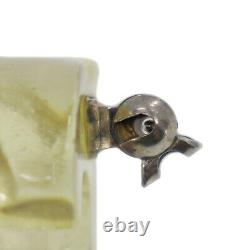 CHANEL CC Logos Pin Brooch Clear Plastic Skeleton France Authentic #AC506 O