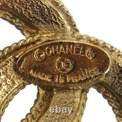 CHANEL CC Logos Used Brooch Gold 1109 Vintage France Authentic #AD943 O