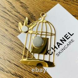 CHANEL COCO Novelty Magnet brooch Bird Cage Gold color ACCESSORIES JP
