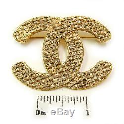 CHANEL Gold Plated CC Logos Vintage Pin Brooch #526a Rise-on