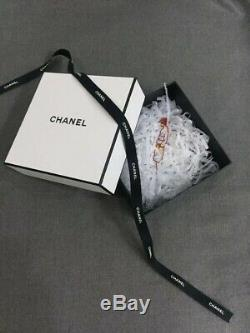 CHANEL Red Metal BROOCH PIN From Event Show In Shanghai RARE