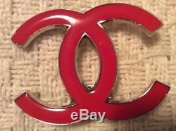 CHANEL Red iconic CC logo Pin for clothing accessory or decor New w CHANEL bag