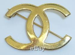 CHANEL Womens Gold Plated Uniform Brooch/Pin VINTAGE
