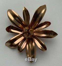 CHANEL brooch badge pin flower gold sublimage metal BNIB very rare VIP GIFT