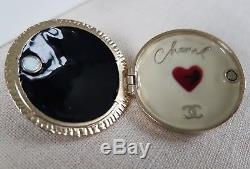 Chanel 10C Cruise Rare Locket Brooch- Excellent- Boxed with Ribbon & Camellia