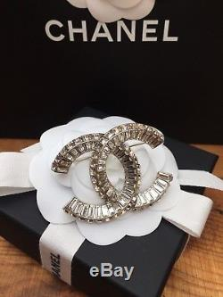 Chanel 2017 Crystals & Silver X Large CC Brooch CC Pin Brand New Harrods