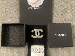 Chanel 2020 Crystal Couture CC Baguette Classic Brooch