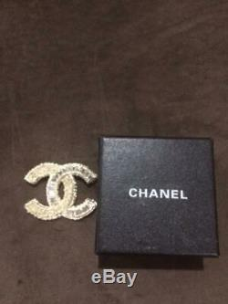 Chanel Baguette Silver and Gold Brooch
