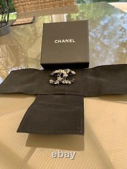 Chanel Brooch Grey/black Tiny Pearls Beautiful Boxed Unworn Reluctant Sale Rare